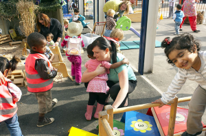 Midland Road Nursery and Children's Centre, in Bradford, who promote the cuddles they give on their website