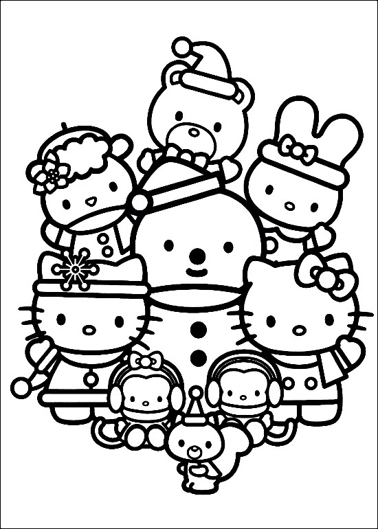 Blog page 8 of 16 suzanne zeedyk for Hello kitty christmas coloring pages